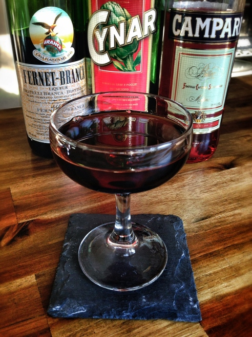 Fernet campari cynar and salt try this negroni riff for Straight up margarita